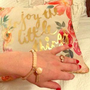 Jessica Simpson Rose gold bracelet w/charm